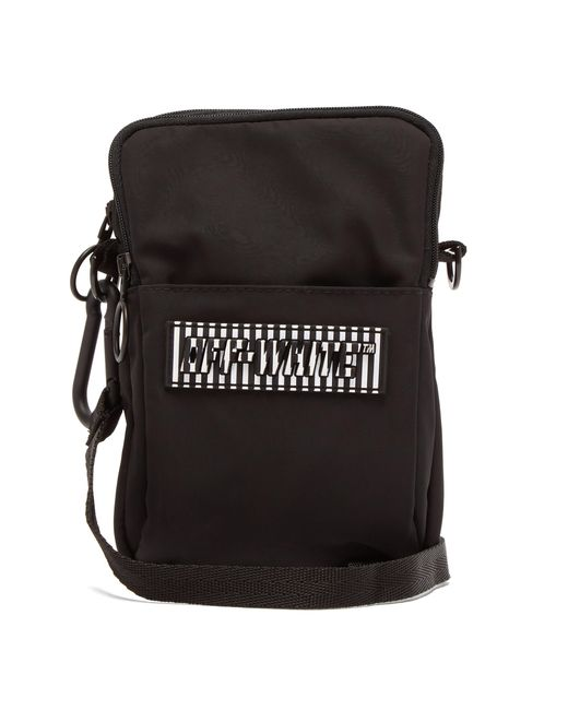 Off-White c/o Virgil Abloh - Black Mini Rubber Logo Cross Body Messenger Bag for Men - Lyst