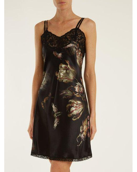 Paris floral-print silk-satin slip Morpho + Luna Discount Recommend Latest Collections  Cheap Shop Offer Outlet Brand New Unisex Cheap Supply RfuGCH