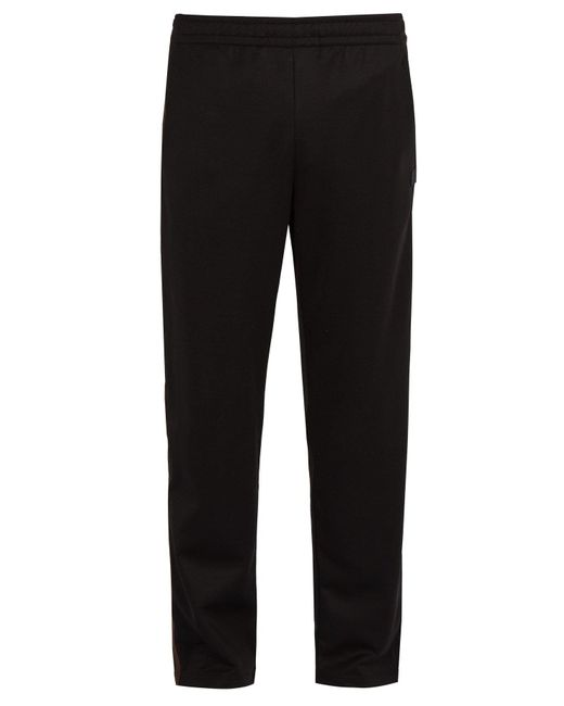 Acne - Black Norwich Face Jersey Track Pants for Men - Lyst