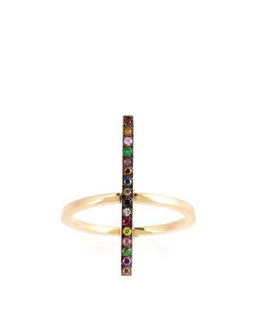 Ileana Makri - Metallic Rainbow Stones & Yellow-gold Ring - Lyst