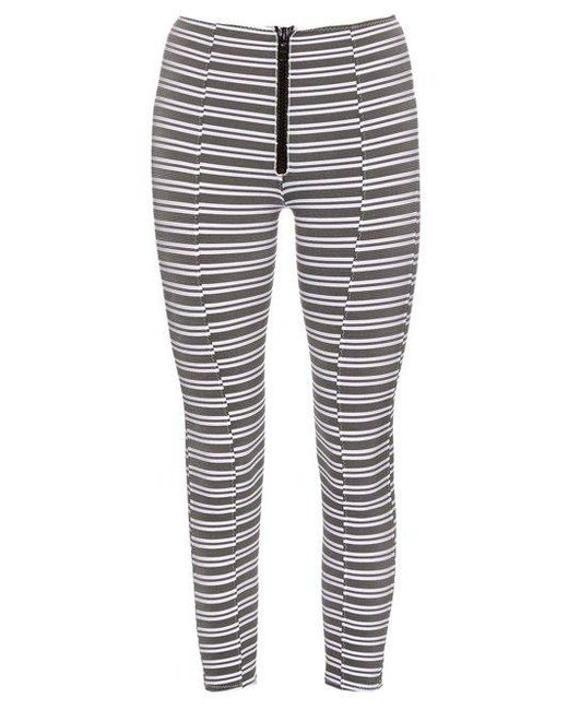 Lisa Marie Fernandez - White Hannah Striped Performance Leggings - Lyst