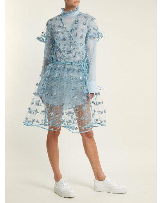 Aida floral-embellished sheer wrap dress Cecilie Bahnsen vGlq5ip