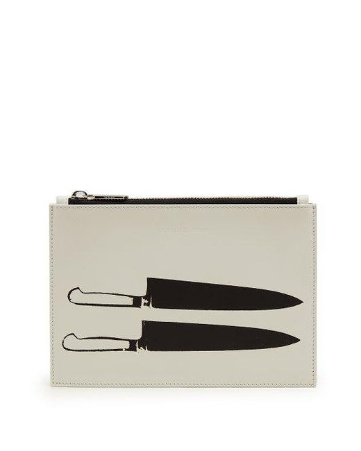 Leather knife-print pouch CALVIN KLEIN 205W39NYC hH6OsAqG