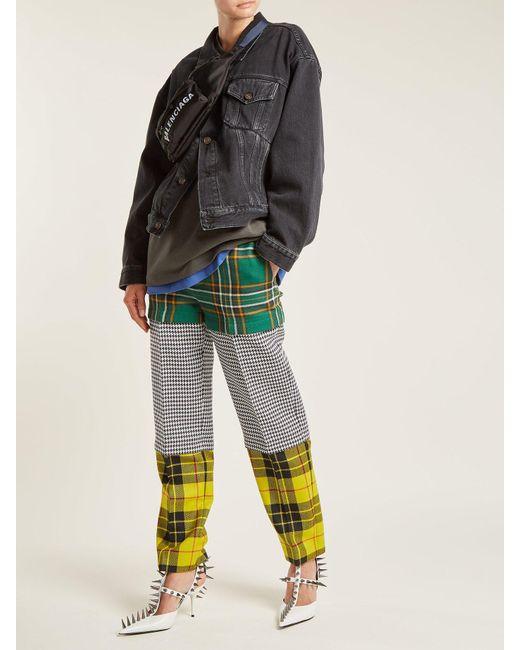 f68c6775b0a836 ... Balenciaga - Black Swing Denim Jacket - Lyst ...