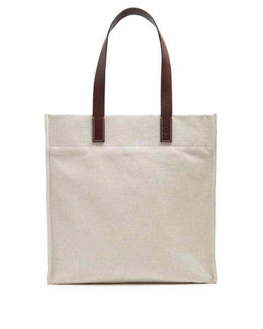 Frescobol Carioca | Natural Leather-handle Linen-canvas Tote for Men | Lyst