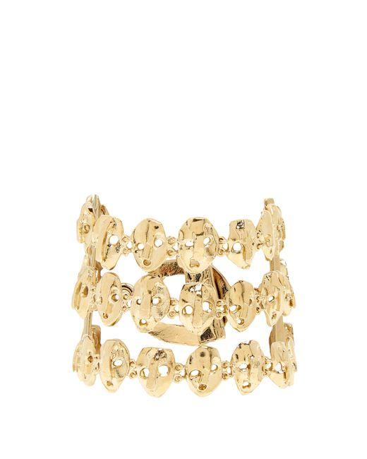 Valentino | Metallic Three Strand Skull-embellished Bracelet | Lyst