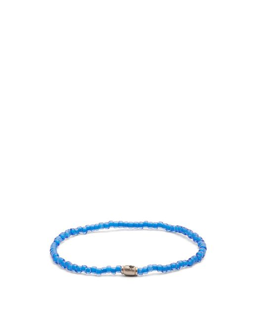 Luis Morais - Blue Mini Barrel Beaded Bracelet for Men - Lyst