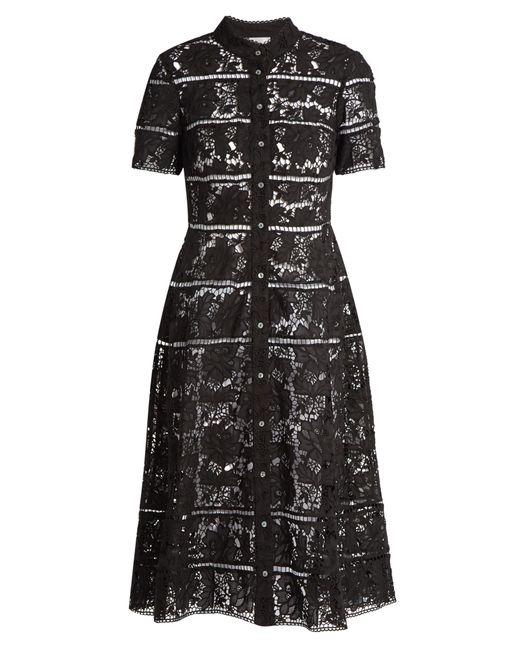 Zimmermann | Black Gossamer Bell-lace Cotton Dress | Lyst