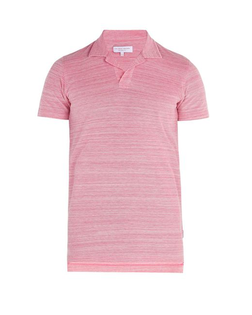 Orlebar Brown - Pink Felix Cotton Polo Shirt for Men - Lyst