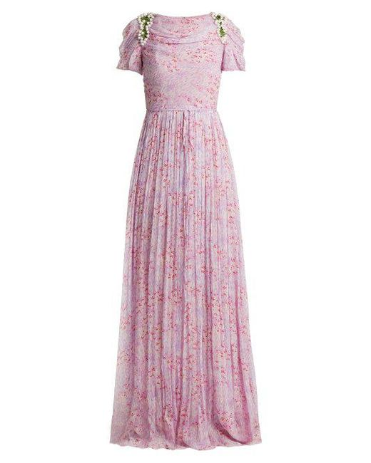 Fast Delivery Cheap Price Wildflower-print silk-chiffon gown Carolina Herrera Wiki For Sale yxfZFVXq
