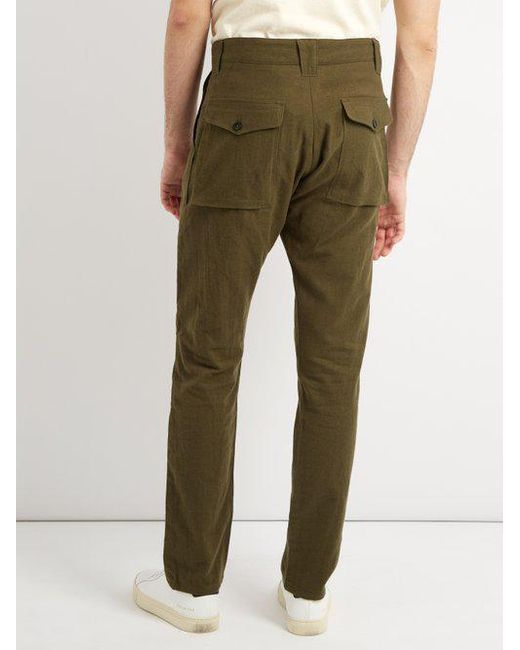 Fatigue cotton and wool-blend trousers The Lost Explorer zgKJeX
