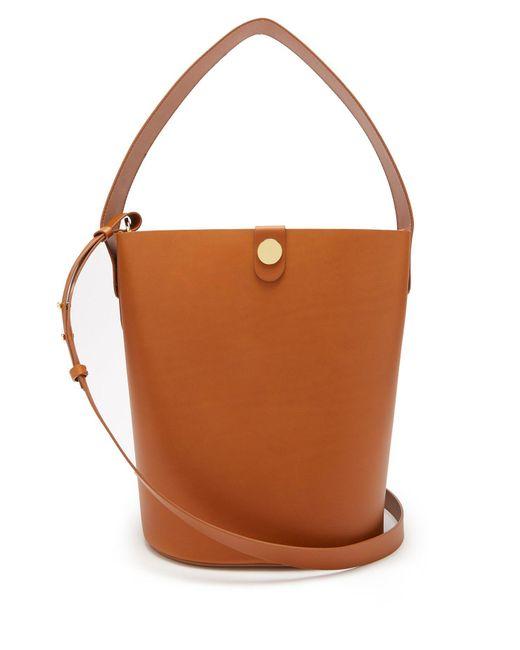 Sophie Hulme - Brown Large Swing Leather Bucket Bag - Lyst