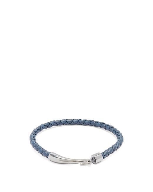Bottega Veneta | Blue Intrecciato Leather Bracelet for Men | Lyst