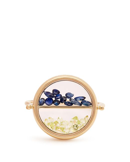 Aurelie Bidermann | Metallic Sapphire, Peridot & Yellow-gold Ring | Lyst
