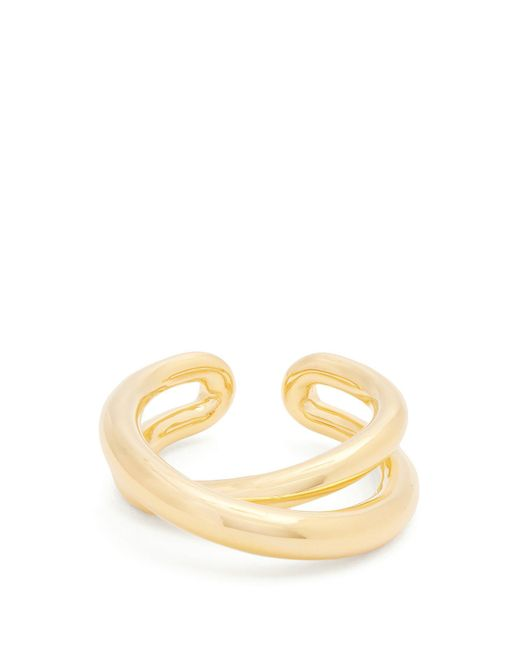 Charlotte Chesnais - Metallic Initial Gold-plated Ring - Lyst