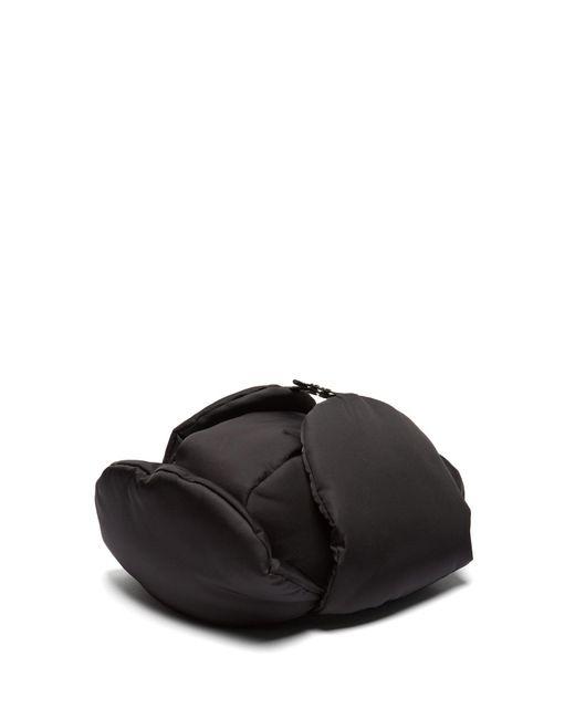Prada - Black Padded Nylon Trapper Hat for Men - Lyst