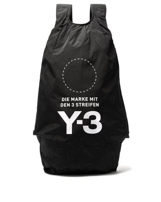 89188ad98d Lyst - Y-3 Yohji Signature Logo-print Backpack in Black for Men