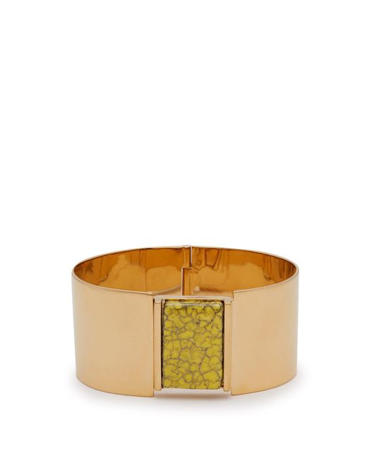 Isabel Marant - Yellow Marbled Stone-embellished Cuff - Lyst