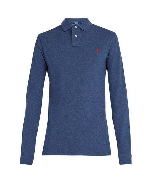 Polo Ralph Lauren - Blue Longsleeved Polo Shirt for Men - Lyst