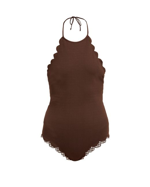Marysia Swim - Brown Mott Scallop Edged Swimsuit - Lyst