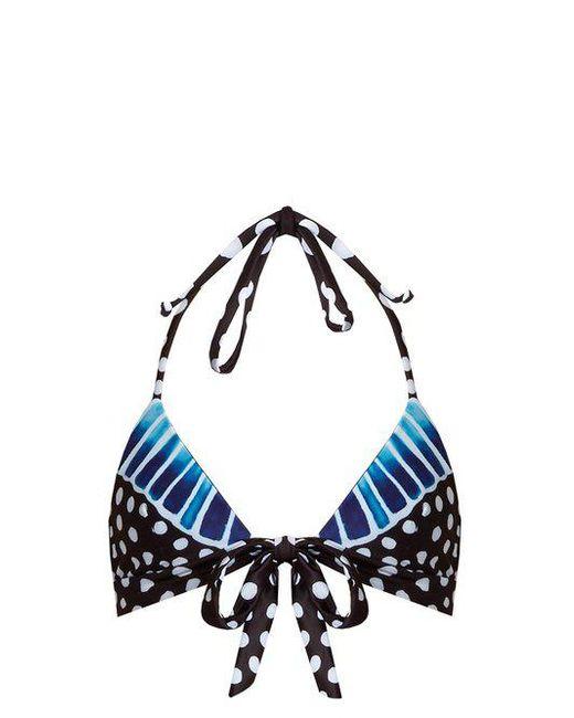 Samba Blue-print halterneck bikini top Mara Hoffman Genuine Online Buy Cheap 2018 D0trP