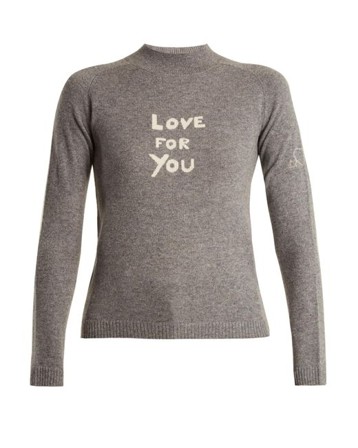 Bella Freud   Gray Love For You Cashmere-blend Sweater   Lyst