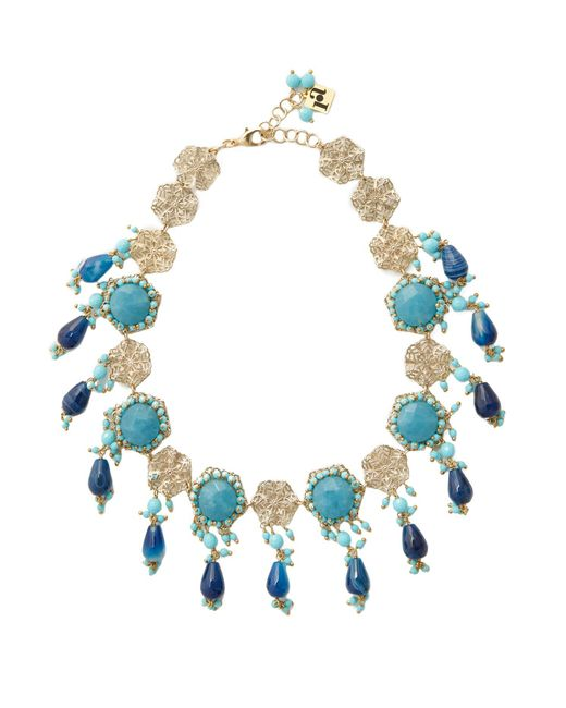 Rosantica By Michela Panero | Blue Corte Beaded Necklace | Lyst