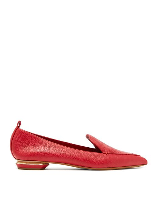 Nicholas Kirkwood - Red Beya Grained Leather Loafers - Lyst