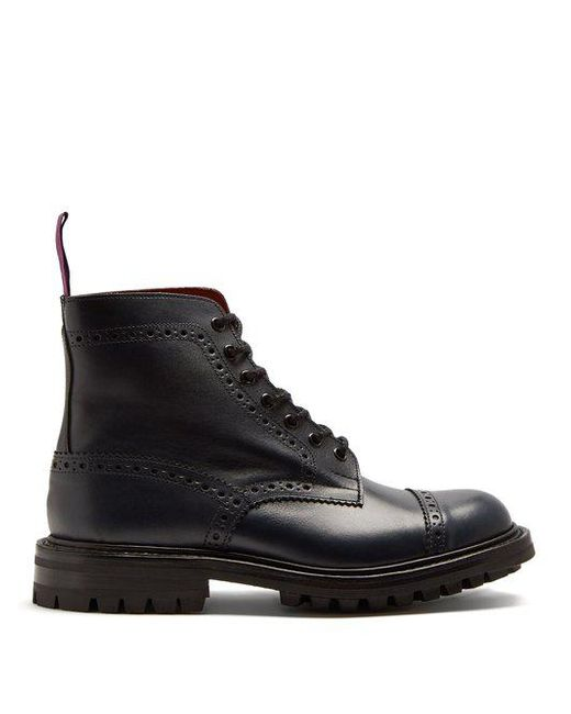 New Junya Watanabe Com Des Garcons Blk/Red Junya Watanabe Comme Des Garcons X Tricker S Leather Ankle Boots for Women Sale