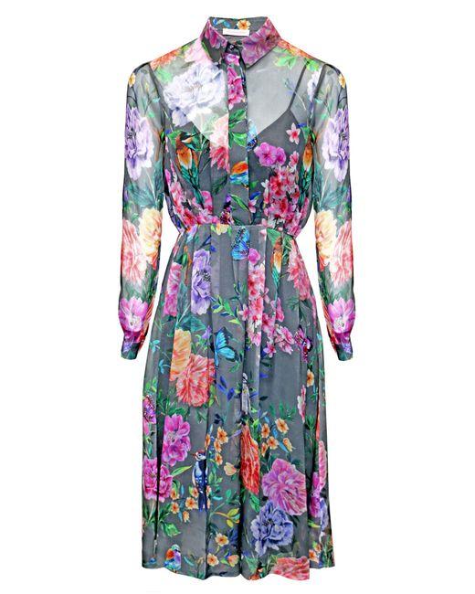 Matthew Williamson | Gray Duchess Garden Shirt Dress | Lyst