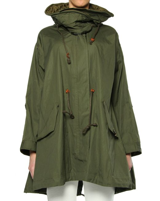 maison scotch parka in green ive save 31 lyst. Black Bedroom Furniture Sets. Home Design Ideas