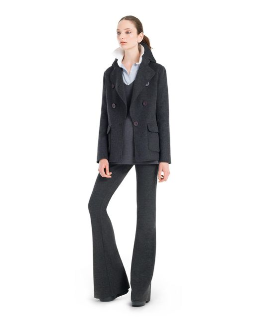 Leon Max - Gray Doubleweave Wool Tailored Jacket - Lyst