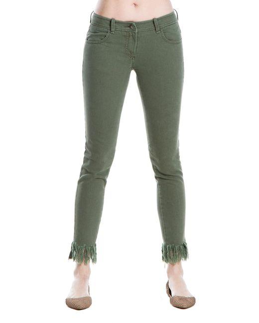 Leon Max - Green Frayed-hem Skinny Jeans - Lyst