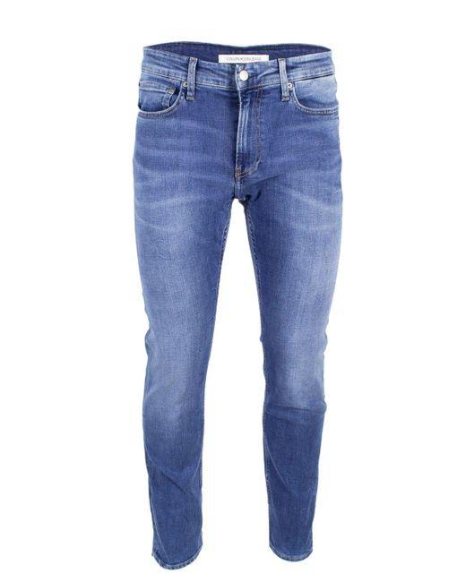 Calvin Klein Blue Cotton Jeans for men