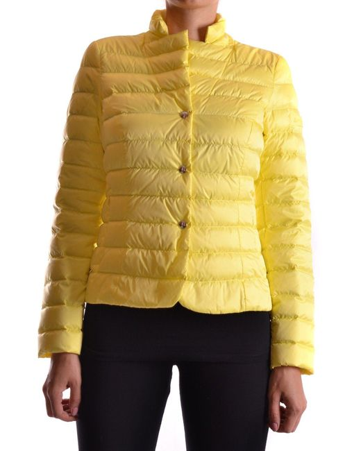 Peuterey - Yellow Polyester Down Jacket - Lyst