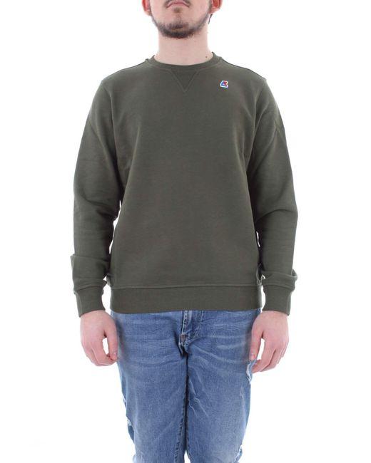 K-Way - Green Cotton Sweatshirt for Men - Lyst