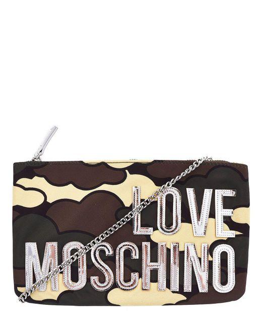 Love Moschino Green Fabric Clutch