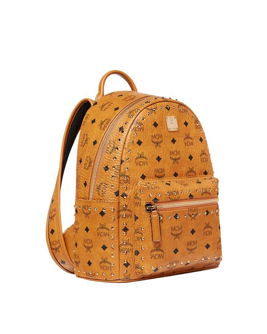 1fd5e5bc7b1 Lyst - MCM Stark Backpack In Gunta M Studs Visetos in Brown for Men ...