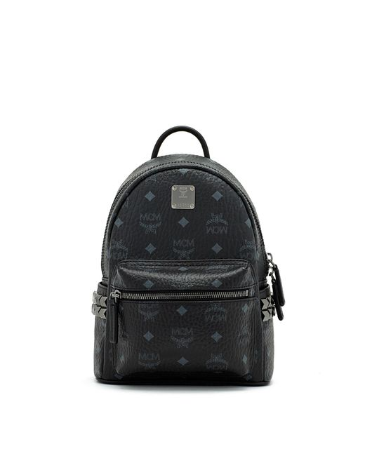 MCM - Black Stark Side Stud Medium Backpack - Lyst