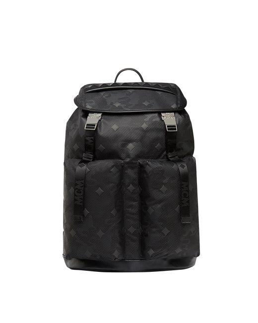 MCM - Black Dieter Backpack In Lion Camo Nylon for Men - Lyst