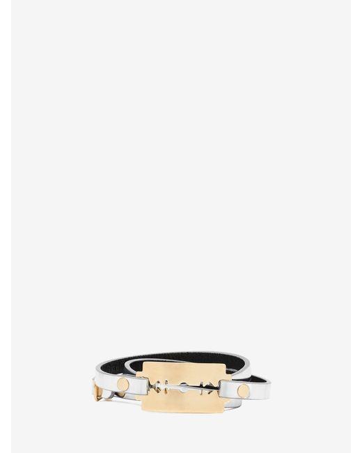 McQ | Metallic Razor Triple Wrap Bracelet | Lyst
