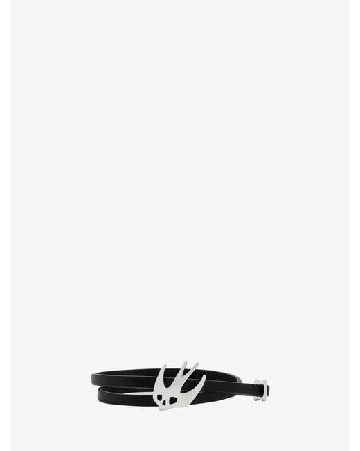 McQ Alexander McQueen - Black Swallow Mini Wrap Bracelet - Lyst
