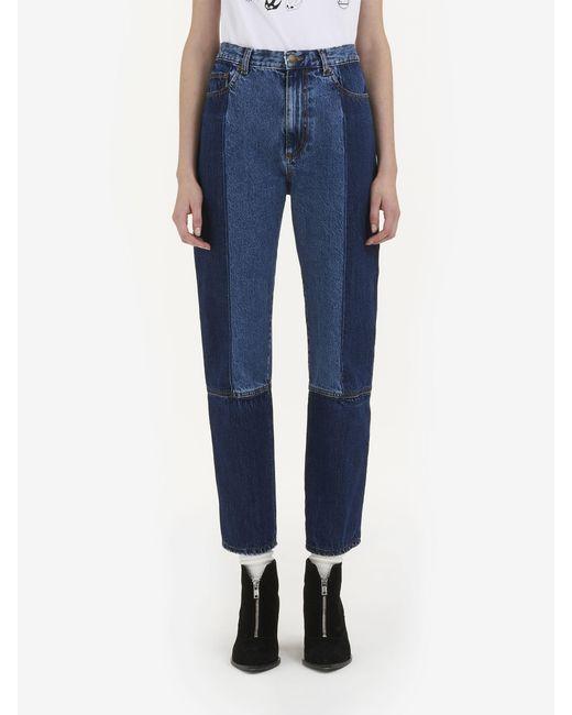 vintage panelled jeans - Blue Alexander McQueen Outlet Enjoy qTzor