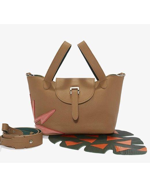 Meli Melo | Brown Thela Mini Cross Body Bag Light Tan Wonderplant | Lyst
