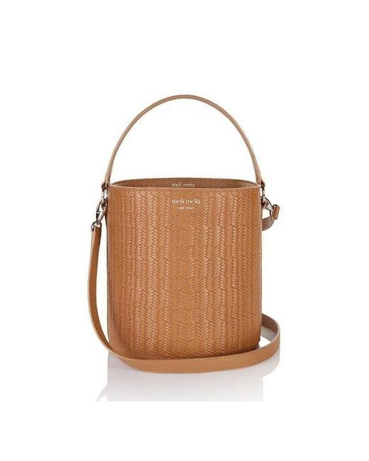 Meli Melo   Brown Santina Bucket Bag Light Tan Woven   Lyst