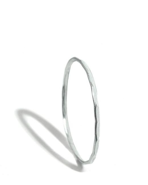 Melissa Joy Manning | Metallic 18k White Gold Hammered Texture 1mm Ring | Lyst
