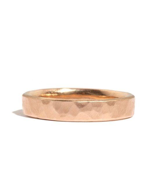 Melissa Joy Manning | Metallic 14k Rose Gold Hammered Texture 4mm Ring | Lyst