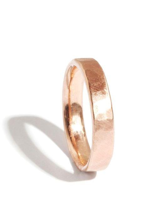 Melissa Joy Manning | Metallic 18k Rose Gold Hammered Texture 4mm Ring | Lyst