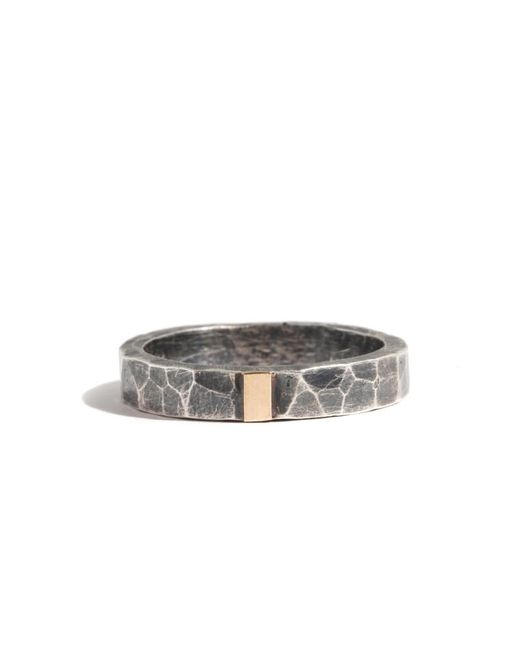 Melissa Joy Manning | Metallic Silver Ring With Single Gold Stripe | Lyst