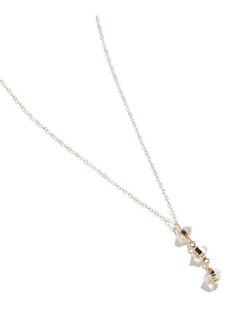 Melissa Joy Manning | Metallic Herkimer Diamond Three Drop Necklace | Lyst